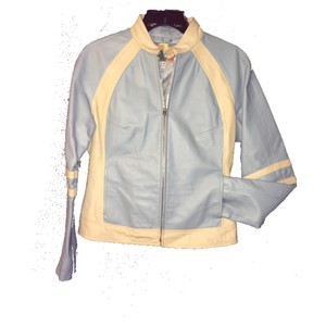 Wilsons Leather baby blue Leather Jacket