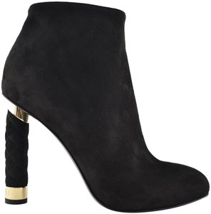 Chanel Stiletto Leather Ankle Tower black Boots
