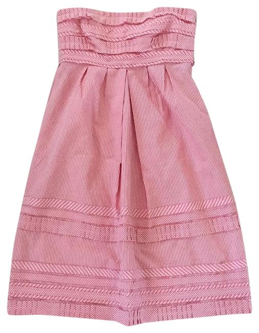 Item - Red and White 8326917 Mid-length Short Casual Dress Size 4 (S)