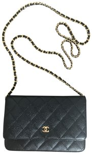 Chanel Leather Classicchanel Chanelflap Black Clutch