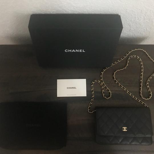 Chanel Leather Classicchanel Chanelflap Black Clutch Image 1
