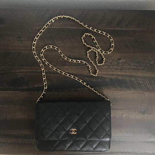 Chanel Leather Classicchanel Chanelflap Black Clutch Image 2