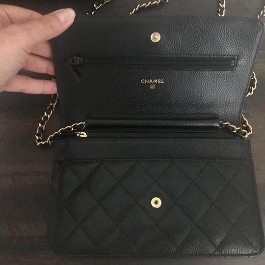 Chanel Leather Classicchanel Chanelflap Black Clutch Image 3
