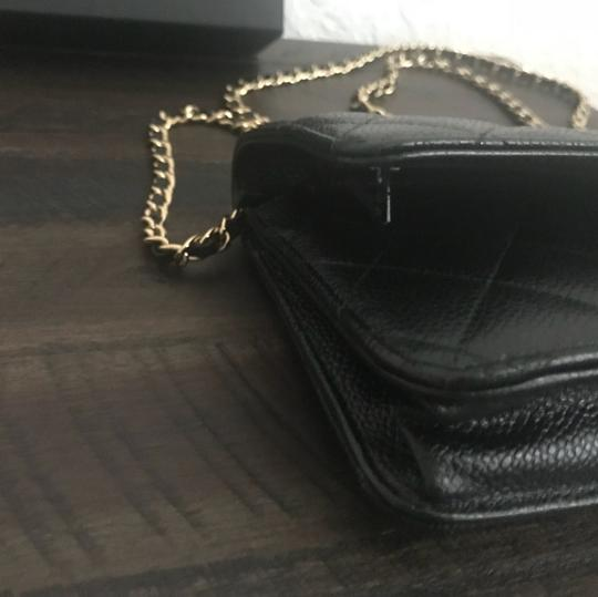 Chanel Leather Classicchanel Chanelflap Black Clutch Image 5