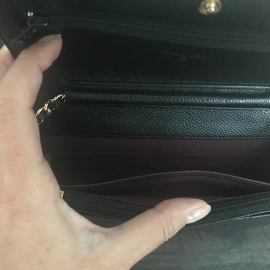Chanel Leather Classicchanel Chanelflap Black Clutch Image 6