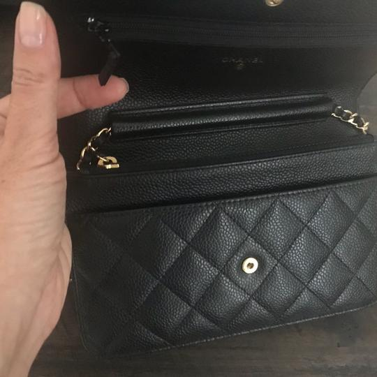 Chanel Leather Classicchanel Chanelflap Black Clutch Image 7