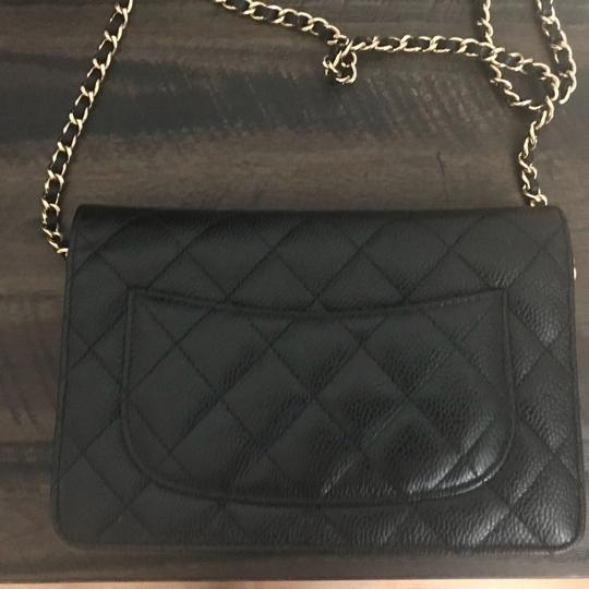 Chanel Leather Classicchanel Chanelflap Black Clutch Image 8