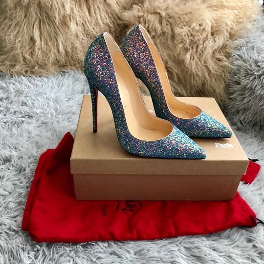 dd3d7326c3a Christian Louboutin Blue So Kate Dragonfly Rose Gold Glitter 120mm Leather  Pumps Size EU 37.5 (Approx. US 7.5) Regular (M, B) 27% off retail