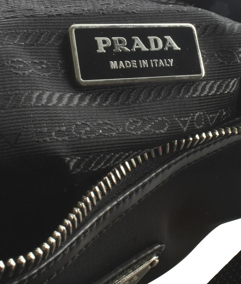 Bt0553 amp; 152754 Bag Shoulder Nylon Leather Black Prada fapyZFa