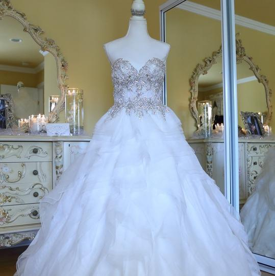 Ysa Makino Ivory Lace On Top Princess Ball Gown