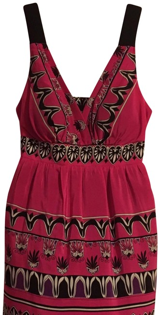 Preload https://img-static.tradesy.com/item/23751958/fuschia-silk-boho-print-mid-length-cocktail-dress-size-6-s-0-3-650-650.jpg