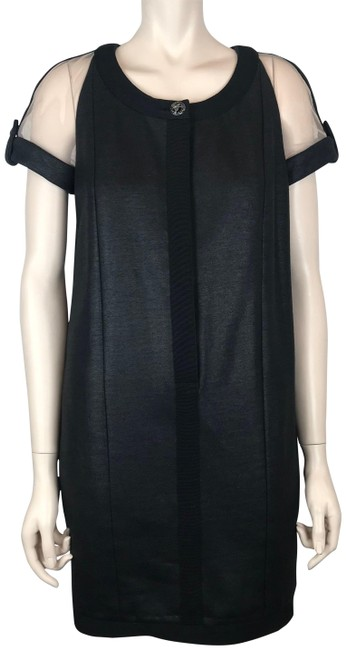 Chanel Black Nude Cashmere Silk & Cotton Silk Lining Mid-length Cocktail Dress Size 6 (S) Chanel Black Nude Cashmere Silk & Cotton Silk Lining Mid-length Cocktail Dress Size 6 (S) Image 1