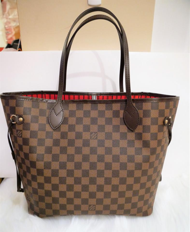 f4cc0d8ff1e Louis Vuitton Neverfull Bag New Made In France Mm Damier Ebene Canvas Tote