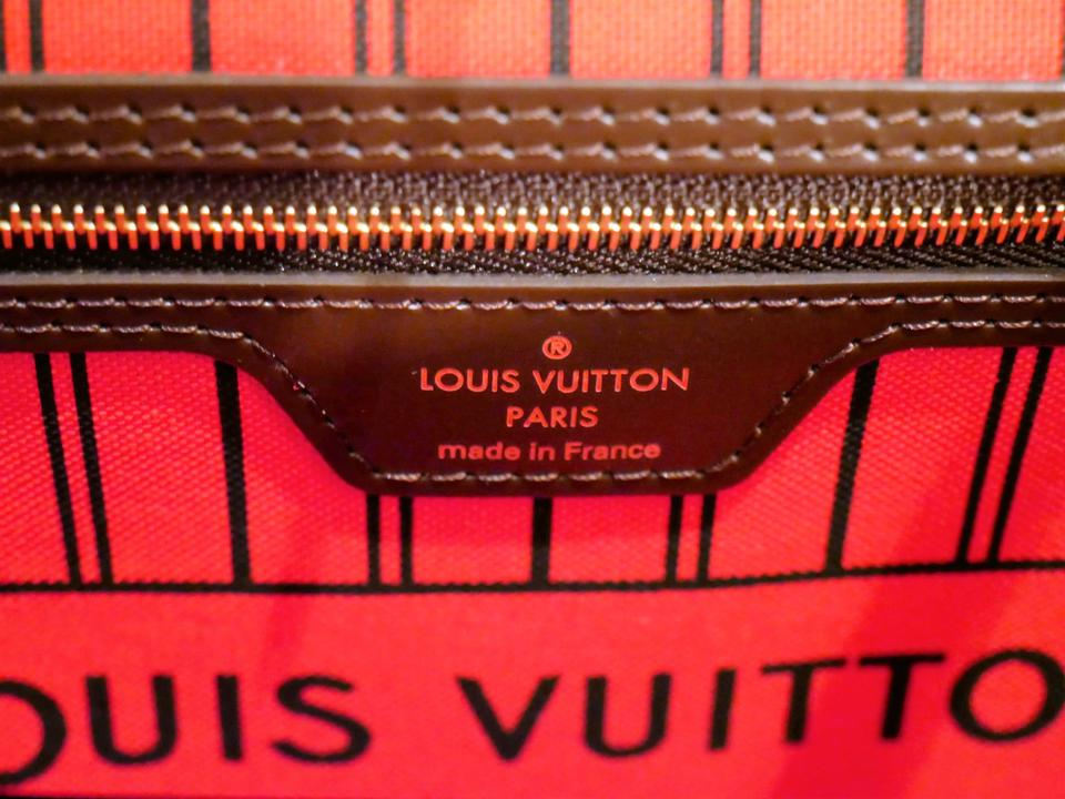 Louis Vuitton Made In France >> Louis Vuitton Neverfull Bag New Made In France Mm Damier Ebene Canvas Tote