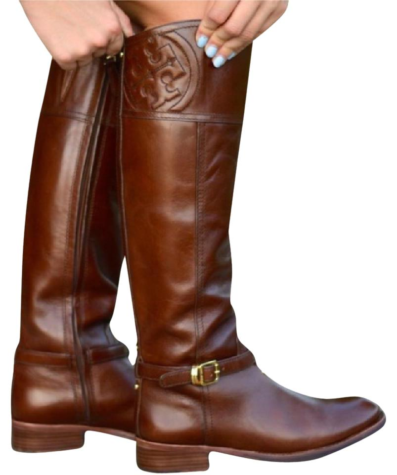 202563c195a8 Tory Burch Chestnut Brown Marlene Riding Boots Booties Size US 9.5 ...