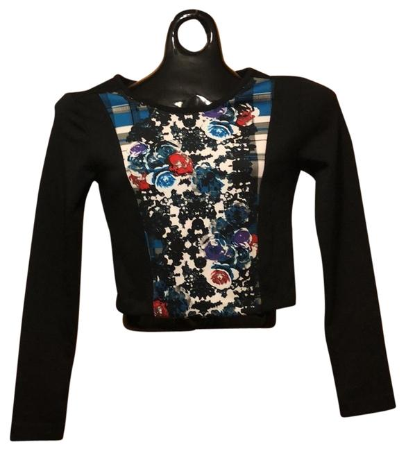 Preload https://img-static.tradesy.com/item/23752214/nicole-miller-black-multi-long-sleeve-crop-printed-flower-night-out-top-size-2-xs-0-1-650-650.jpg