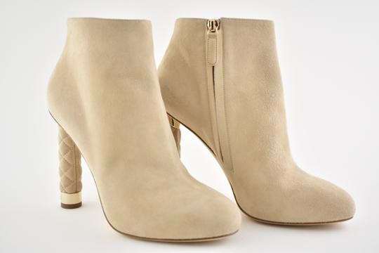 Chanel Stiletto Leather Ankle Tower beige Boots Image 1