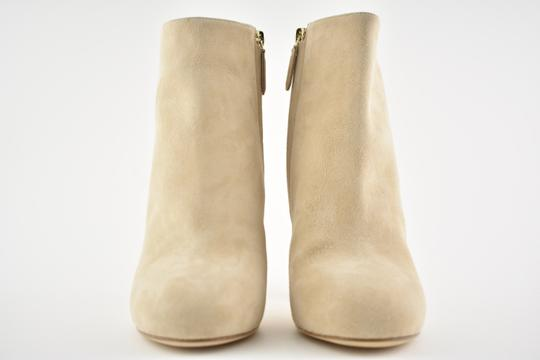 Chanel Stiletto Leather Ankle Tower beige Boots Image 2