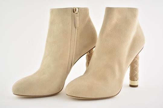 Chanel Stiletto Leather Ankle Tower beige Boots Image 6