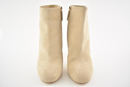 Chanel Stiletto Leather Ankle Tower beige Boots Image 3