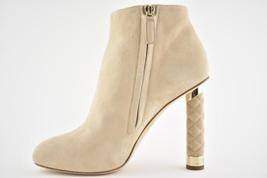 Chanel Stiletto Leather Ankle Tower beige Boots Image 5