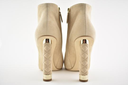 Chanel Stiletto Leather Ankle Tower beige Boots Image 7