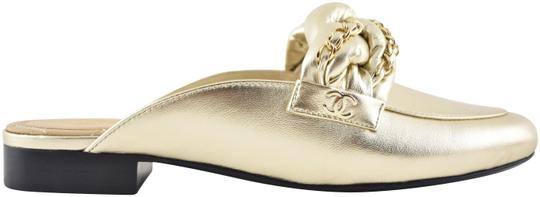 Chanel Lambskin Leather Ballerina Ballet Slide gold Flats Image 0