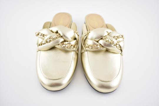 Chanel Lambskin Leather Ballerina Ballet Slide gold Flats Image 2