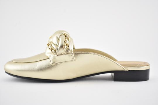 Chanel Lambskin Leather Ballerina Ballet Slide gold Flats Image 6