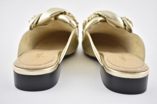Chanel Lambskin Leather Ballerina Ballet Slide gold Flats Image 8