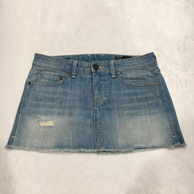 William Rast Mini Skirt Light Blue Image 3