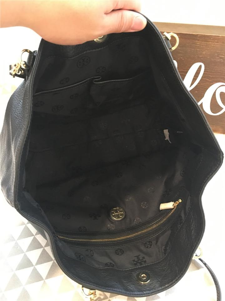 41139735 Tory Burch Pebbled Tote Leather Black Thea Zx8Fwqxa