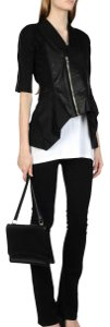 Rick Owens Panel Cyclops Collection Asymmetrical Daphne Browell Leather Jacket