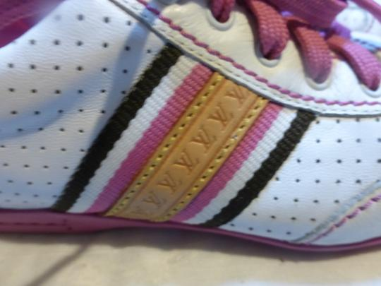 Louis Vuitton WHITE, PINK LEATHER; TAN Athletic Image 1
