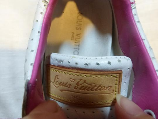 Louis Vuitton WHITE, PINK LEATHER; TAN Athletic Image 2