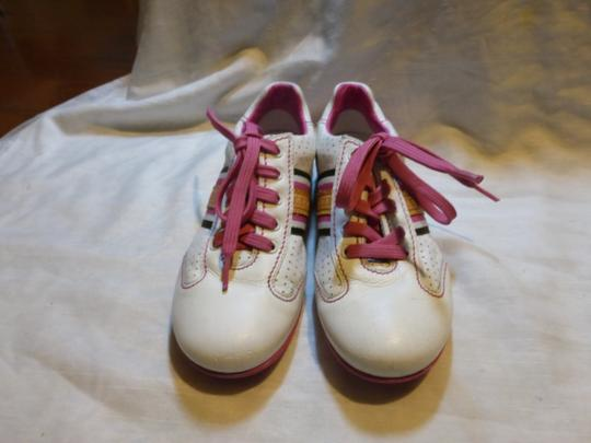 Louis Vuitton WHITE, PINK LEATHER; TAN Athletic Image 3