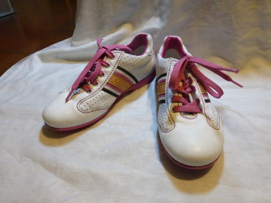 Louis Vuitton WHITE, PINK LEATHER; TAN Athletic Image 5