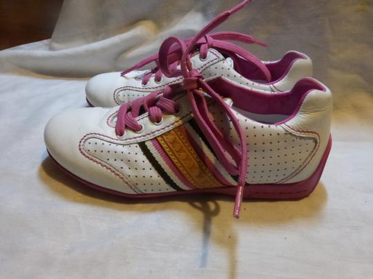 Louis Vuitton WHITE, PINK LEATHER; TAN Athletic Image 7