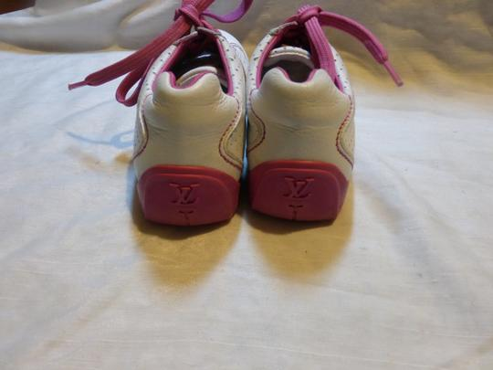 Louis Vuitton WHITE, PINK LEATHER; TAN Athletic Image 8
