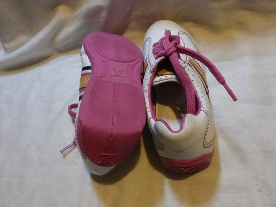 Louis Vuitton WHITE, PINK LEATHER; TAN Athletic Image 9
