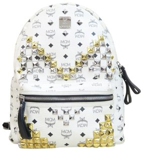 MCM Stark Canvas Large Backpack