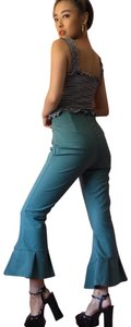 C/MEO Collective Teal Flare Cropped Pants Capri/Cropped Pants