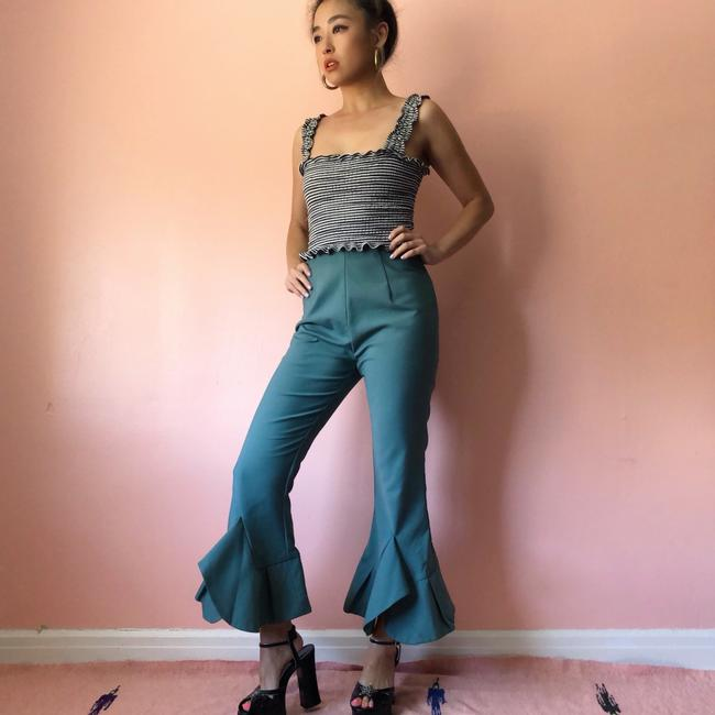 C/MEO Collective Teal Flare Cropped Pants Capri/Cropped Pants Image 1