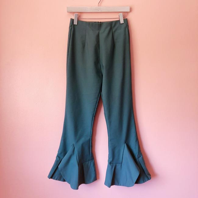 C/MEO Collective Teal Flare Cropped Pants Capri/Cropped Pants Image 2