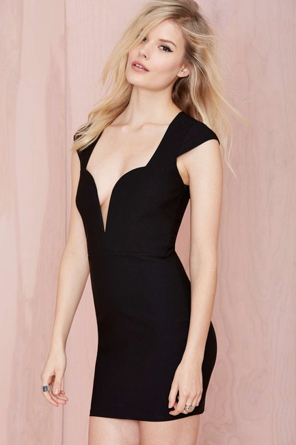 Nasty Gal Plunge Fitted Fun Dress Image 2