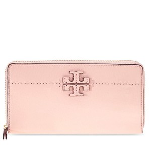 Tory Burch Leather Wallet 190041728138 Wristlet in Pink