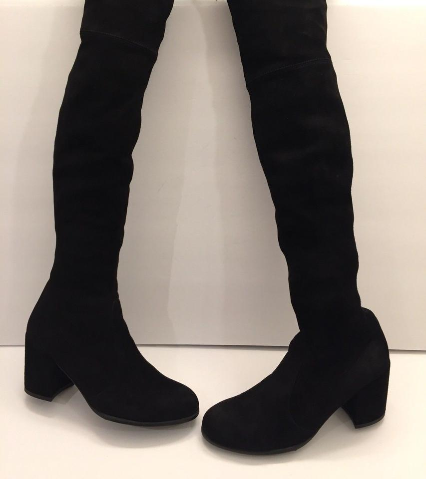Suede The Boots Weitzman Stuart Black Booties Over Knee Tieland Stretch ZxfIBq