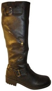 Mossimo Supply Co. Tall Faux Leather Man Made Vegan 001 black Boots
