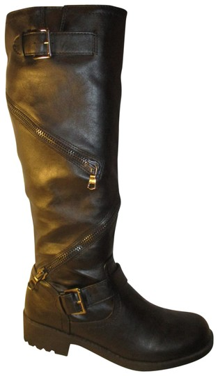 Preload https://img-static.tradesy.com/item/23752955/mossimo-supply-co-black-faux-leather-tall-bootsbooties-size-us-85-regular-m-b-0-1-540-540.jpg