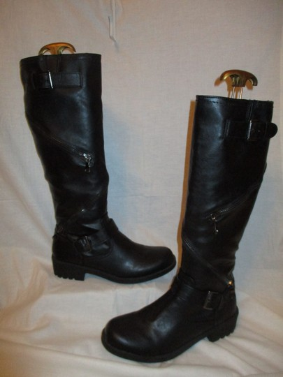 Mossimo Supply Co. Tall Faux Leather Man Made Vegan 001 black Boots Image 1